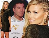 Carmen Electra rings in the New Year without beau Simon Cowell... and steals the Vegas show with striking cornrow hairstyle and clinging dress