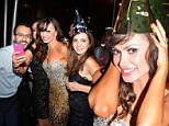 'Are you ready?' Karina Smirnoff rings in 2013 decked out in glittering dress... while hosting NYE party in Miami