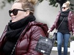 What a flasher! Hilary Duff braves the chill in see-through top... while shopping for New Year's Eve outfit