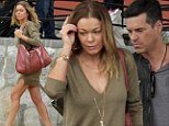 Gearing up for New Year's: LeAnn Rimes and Eddie Cibrian arrive at celebrity hot-spot Cabo