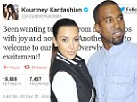 'Another angel to add to our family': The Kardashian clan congratulate Kim and Kanye on their baby news... and they aren't the only ones