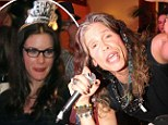 Rocking in the New Year! Steven Tyler is supported by daughter Liv as he performs at Alice Cooper's star-studded bash