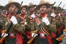 Army personnel at RD parade rehearsal in New Delhi