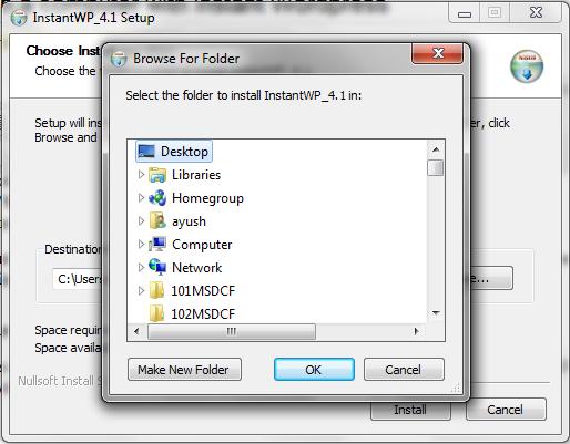 Install wordpress - first step
