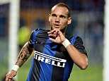 Turkey time: Wesley Sneijder could be in for a move to Galatasaray