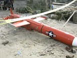 Found: This U.S. naval drone has been discovered floating in the waters off Masbate in the Philippines