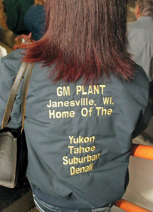 This jacket worn by a GM employee now has a ...