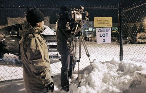 A video crew from NHK Japan, a public television station, ...