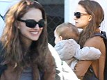 Doting mom and popular actress Natalie Portman bundled up her bundle of joy for an outing to the community centre this morning in Los Feliz, Ca.