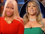 'It was just two big old divas': Nicki Minaj puts feud with Mariah Carey behind her and admits she hopes American Idol fans won't think she's a 'crazy psycho'