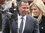 Suited and booted: Alex Rodriquez and girlfriend Torrie Wilson swap their swimsuits for chic attire as they enjoy romantic lunch