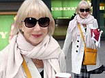 Chic: Actress Helen Mirren and director husband Taylor Hackford were in the states for a variety of award ceremonies