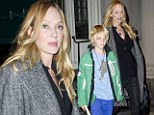 Just me and my boy! Uma Thurman takes son Levon to the Jimmy Fallon show after close pair attend a basketball match