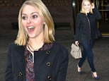 Dear diary, I am excited! A smiling and super stylish AnnaSophia Robb steps out in New York just hours before her Sex And The City prequel premieres
