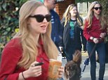 Amanda Seyfried with friends takes Flynn to the doctors office and Urth Caffe in Beverly Hills