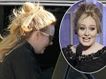 Adele and her son arrives to a private