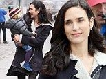 It's a juggling act for Jennifer Connelly as she plays the doting mother with daughter Agnes between takes on Winter's Tale set