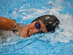 Lena Schoneborn of Germany competes in the Swimming 200m Freestyle