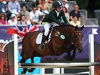Natalya Coyle of Ireland riding Skinners Zed competes during the Riding Show Jumping