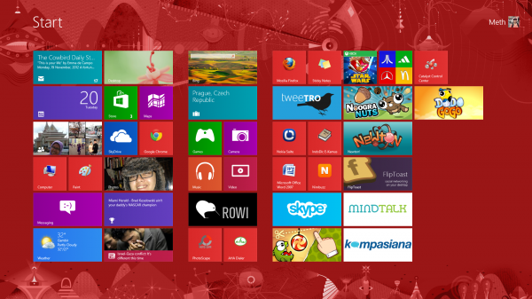 [GALLERY] Windows 8 PRO Home Screen & Menu