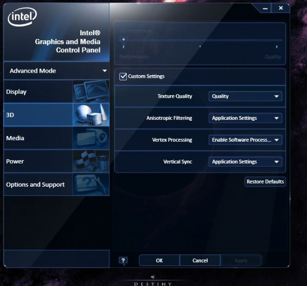 Getting the most out of your Intel GMA experience