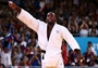 Teddy Riner of France celebrates his gold medal