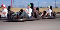 See a Real-Life <em>Mario Kart</em> Race Complete With RFID Bananas, Power-Ups