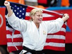 Kayla Harrison of the United States takes Women's -78 kg Judo gold