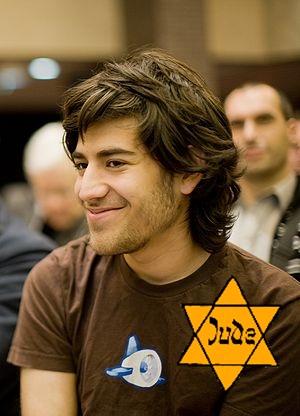 Jewish hacker Aaron Swartz -- declared a hero by Jew-media for petty hacking.
