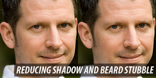 Reducing 5 O'Clock Shadow And Beard Stubble In Photoshop