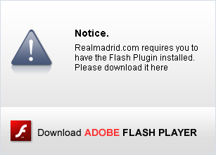 Realmadrid.com requires you to have the Flash Plugin installed. Please download it here.