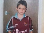 Junior Hammer: This picture, orginally tweeted by Jack Wilshere (pictured), re-circulated last night