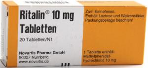Ritalin-Packung
