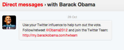 Barak Obama on Twitter