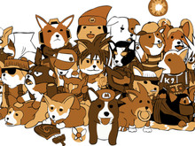 Corgis cosplaying as your favorite videogame heroes photo