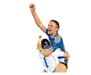 Tipperary's Noel McGrath celebrates with James Logue at the final whistle.