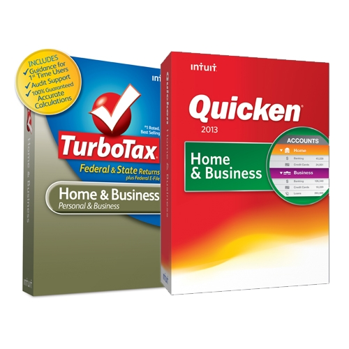 Cheap Quicken Home Business 2013 + TurboTax Home Business 2012 VAL PK Download