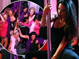 Stars and strips! Kyle Richards and the ladies of Real Housewives of Beverly Hills get a lesson in the art of pole-dancing