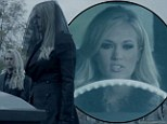 High speed killer! Carrie Underwood's cheating boyfriend is murdered in video for Two Black Cadillacs
