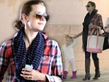 Tiny dancer! Amy Adams carries a ballet tote as she takes her daughter Aviana to class