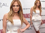 Jennifer Lopez shows off her curves in white peplum dress...after secret meeting with ex-husband Marc Anthony