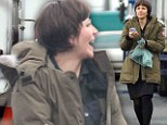 So that's what the dowdy crop is for! Maggie Gyllenhaal gets to work on filming her latest movie Frank in Ireland