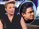 LeAnn Rimes attempts to be sexy in a see-through top...but her Johnny Cash-inspired quiff steals the limelight