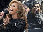 'She did a beautiful job with the pre-record': Aretha Franklin admits she 'cracked up' when she heard Beyonce's lip-synching at inauguration ceremony