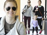 Following in her fancy footsteps! Amy Adams' daughter Aviana leads the way to ballet class in cute purple outfit