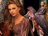Taylor Swift has been photographed as fairy tale heroine Rapunzel by photographer Annie Leibovitz. In the magical shot, Taylor sits in her tower, her long hair circling the turret, waiting for her prince to come