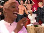 Nene Leakes hides her blushes as Ellen DeGeneres surprises Real Housewives of Atlanta star with male strippers for impromptu bachelorette party