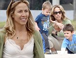 Sheryl Crow enjoys some quality family time as she hits the beach this morning with her favorite boys, Wyatt and Levi