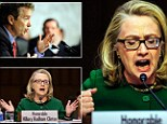 Secretary of State Hillary Clinton faced her toughest critic in today¿s Senate hearing over the attack in Benghazi when Senator Rand Paul (left) criticized her role in the investigation as a ¿failure of leadership¿