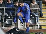 Stamp it out: Eden Hazard was sent off for kicking Charlie Morgan